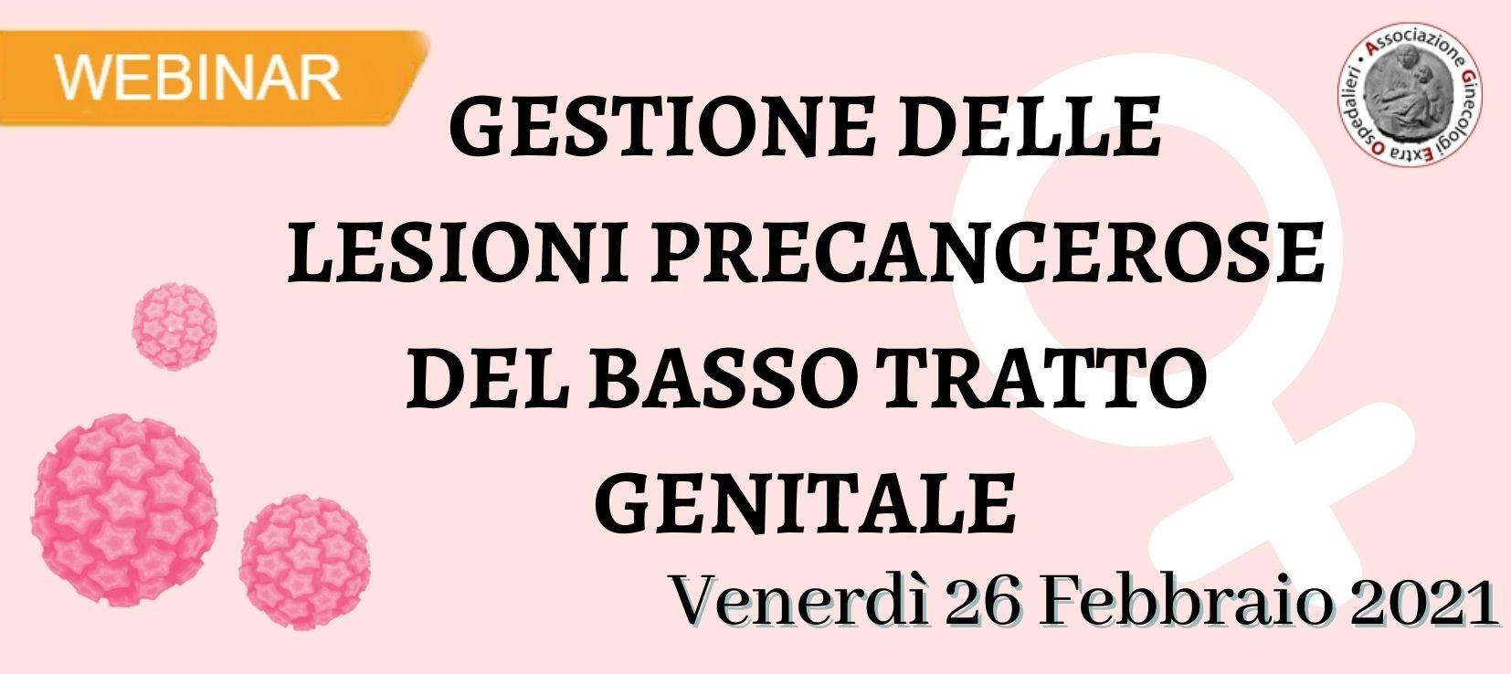 Gestione delle lesioni precancerose del basso tratto genitale